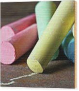 Sidewalk Chalk I Wood Print