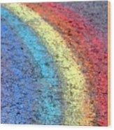 Sidewalk Rainbow  Wood Print