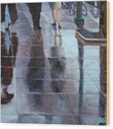 Sidewalk Reflections Wood Print