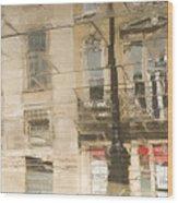 Sidewalk Reflections II Wood Print