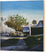 Sidewalk Sale Wood Print