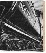 Sideways Train Wood Print