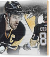 Sidney Crosby Artwork Wood Print