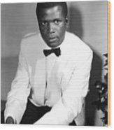 Sidney Poitier, On The Set For The Film Wood Print