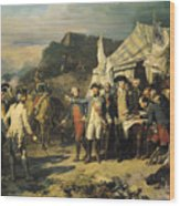 Siege Of Yorktown Wood Print