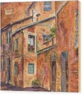 Siena Alley Wood Print