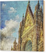 Siena Duomo Facade In The Sunset Wood Print