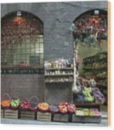 Siena Italy Fruit Shop Wood Print