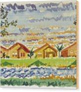 Siena Lakes Wood Print