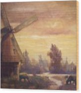 Sienna Mill Wood Print