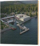 Sierra Boat Aerial Wood Print