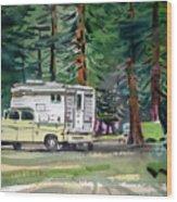 Sierra Campsite Wood Print