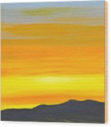 Sierra Foothills Sunrise Wood Print