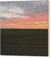 Sierra Foothills Sunset Wood Print