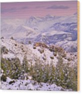 Sierra Nevada At Sunset Wood Print
