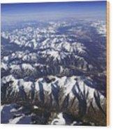 Sierra Nevada Range Wood Print