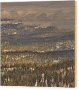 Sierra Nevada Winter Vista Wood Print