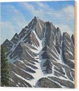 Sierra Peaks Wood Print