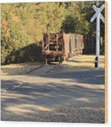 Sierra Railway Hoppers Wood Print by Troy Montemayor