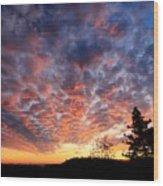 Sierra Skygasm Wide Angle Wood Print