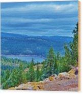 Sierras Before Snow Storm Wood Print