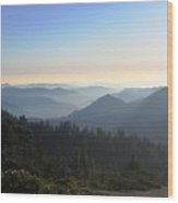 View From Beetle Rock Wood Print