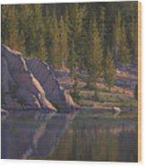 Sierra's Last Light Wood Print
