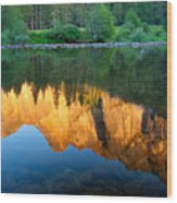 Sierras Reflected Wood Print