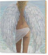 Siesta Key Beach Angel Wood Print