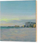 Siesta Key Beach At Dusk Wood Print