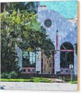 Siesta Key Beach Cottage Wood Print