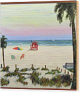 Siesta Key Beach Morning Wood Print