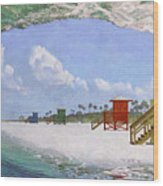 Siesta Key Curl Wood Print