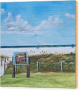 Siesta Key Public Beach Wood Print