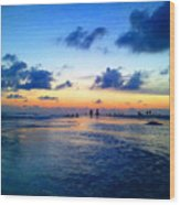 Siesta Key Sunset 1 Wood Print