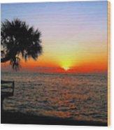 Siesta Key Sunset 2 Wood Print
