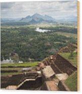 Sigiriya Ruins Wood Print by Jane Rix