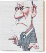 Sigmund Freud, Caricature Wood Print