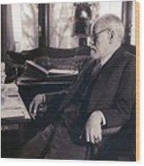 Sigmund Freud Seated In His Study Wood Print