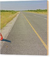 Sign On The Road Wood Print