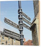 Sign Posts In Bury St Edmunds Wood Print