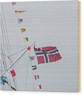 Signal Flags Wood Print