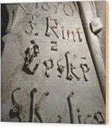 Signature Of Bones Wood Print