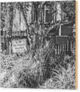 Signs On A  Minneapolis Yard Wood Print