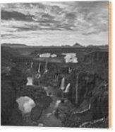 Sigoldufoss Waterfalls Iceland 1291 Wood Print