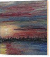 Silence Ahead Of The Storm Wood Print