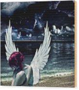 Silence Of An Angel Wood Print