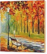 Silence Of The Fall Wood Print