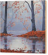 Silent Autumn Wood Print