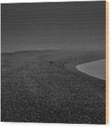Silent Beach. A Dark, Ghostly Fine Art Photographic Print Of A Fog Shrouded Beach Wood Print